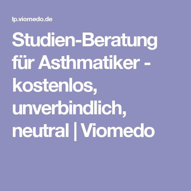 Studien-Beratung für Asthmatiker - kostenlos, unverbindlich, neutral   Viomedo