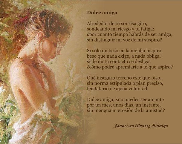 Dulce Amiga, bello soneto