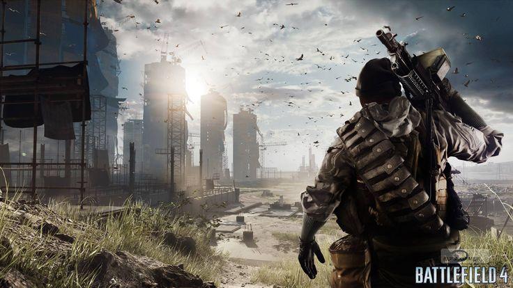 Computerspel - Battlefield 4  - Achtergrond - Natuur - Landschap - Stad - Berg - Oceaan - Maan - Sun - Zonsondergang - Sunlight - Hdr - Hd - Ultra - Spel - Oorlog - Gun - Ea Achtergrond