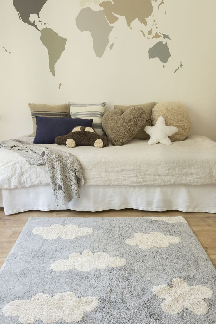 Area Rugs For Your Nursery That Are Both Beautiful Machine Washable The Lorena Cs Clouds Rug In Grey Is Perfect Baby Rooms