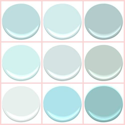 Very beachy... Lesli's (My Old Country House) turquoise picks from #BenjaminMoore.