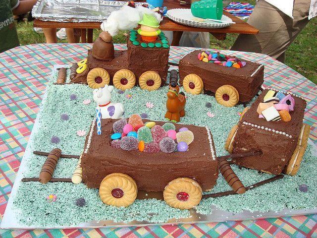 My boy's 1st birthday cake by Julie Smith-Belton, via Flickr