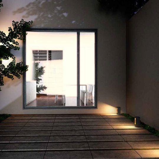 Venkovní sloupek  LED RENDL RED R10380 (TREEZA) Venkovní sloupek k osvětlení příjezdových a přístupových cest, jako jsou např. chodníky okolo domu či zahrady  #outdoor, #light, #wall, #front_doors, #style, #rustical #led #red #rendl #modern #moderní #osvětlení #světlo