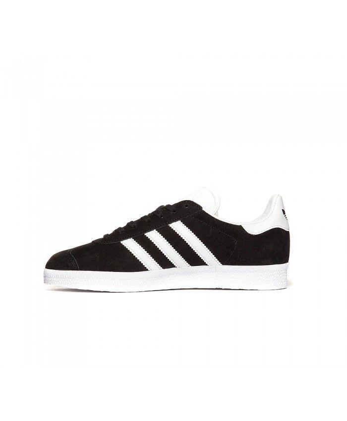 on sale b9d16 d2670 Adidas Gazelle Womens Trainers In Black White Gold. Cheap Adidas Originals  Womens Gazelle Trainer Black White Gold Sale UK ...