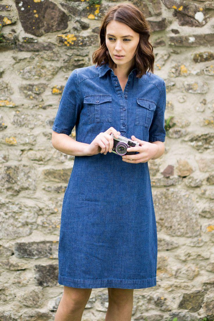 Denim Shirt Dress by BIBICO