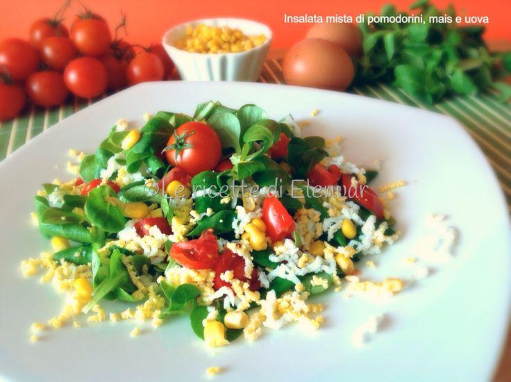 Ciao a tutti! oggi sono di corsa.... vi lascio un'#insalatona  colorata e leggera per il pranzo!  http://bit.ly/insalata_pomodirini_mais_uova