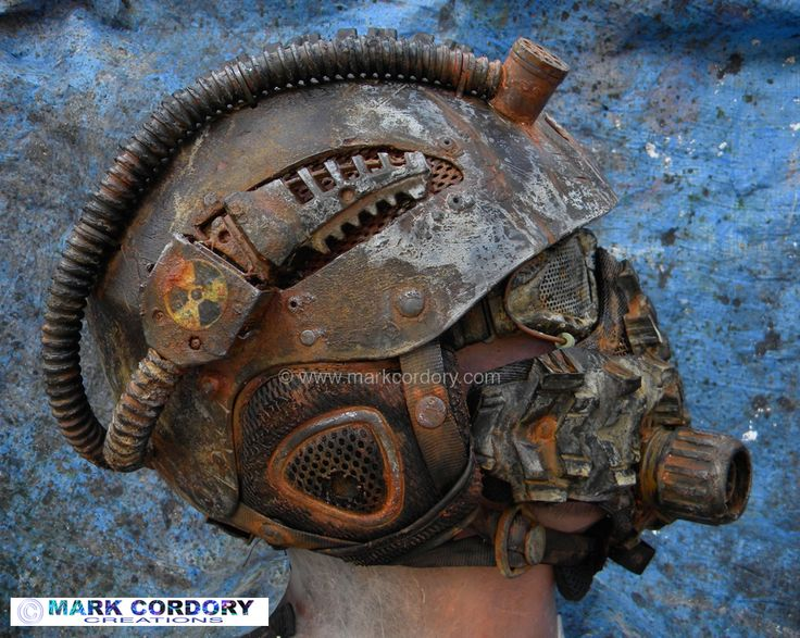 Post Apocalyptic Mad Max style helmet and mask for LARP - Airsoft Created by Mark Cordory Creations www.markcordory.com
