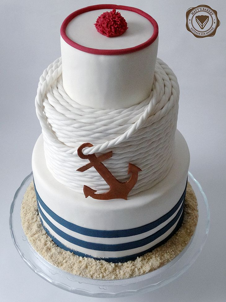 #matts_bakery #cakedesign #angers #sailor #wedding #cake #satinice #marin #mariage #gateau