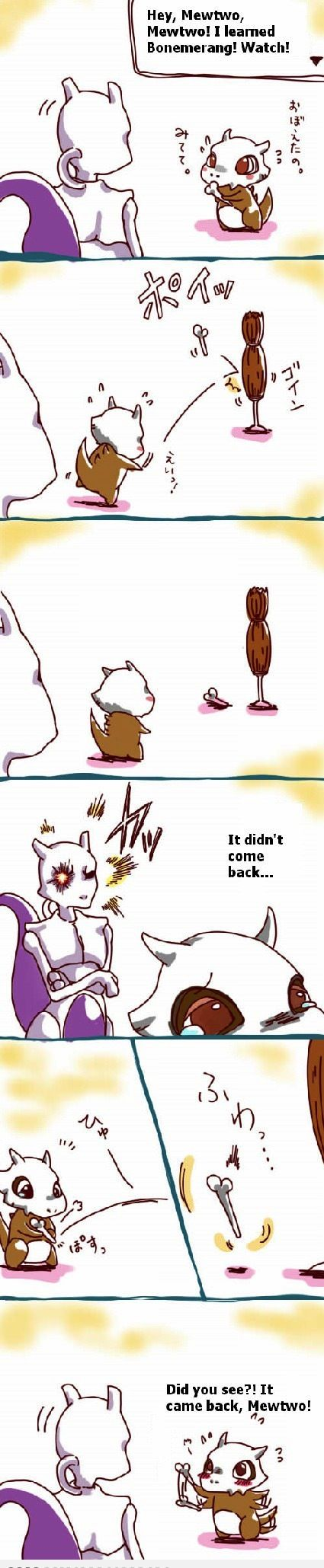 Good guy Mewtwo is so cute!! :3