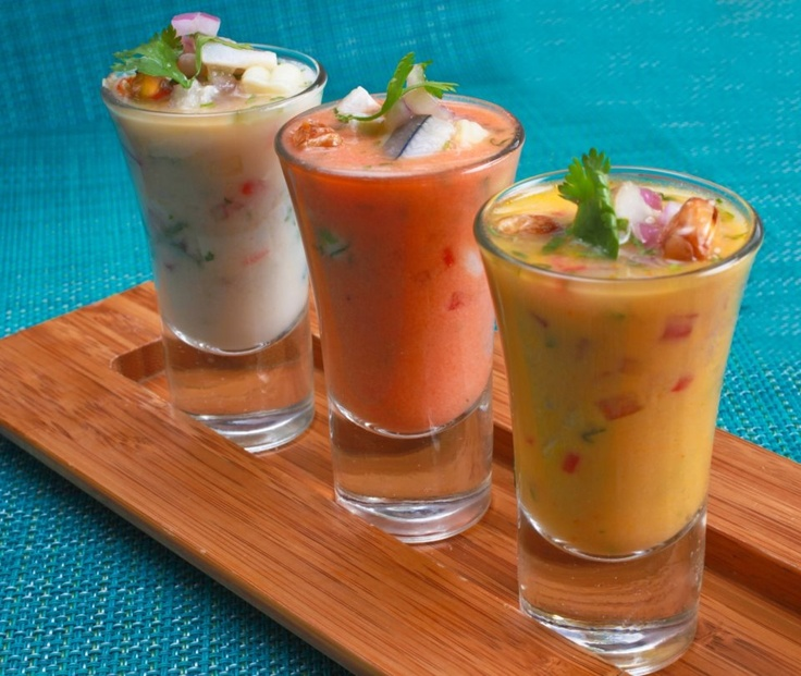 Ceviches ..... Peruvian food.