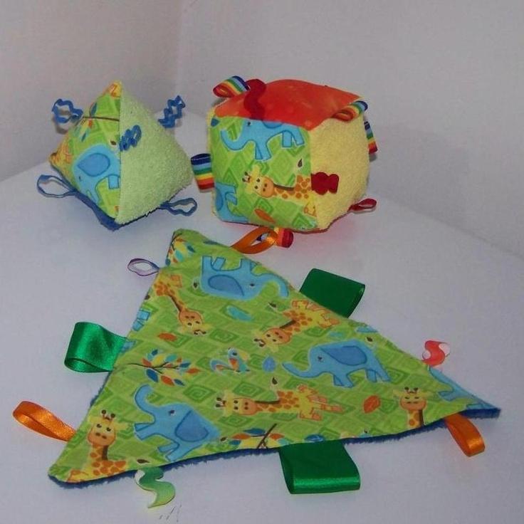 Taggy Toy and Sensory Blocks on Handmade Australia