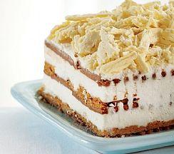 עוגת גבינה וביסקוויטים עם הפתעות קראנץ' (הגדל)