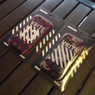 Off white camo check iphone case red or green