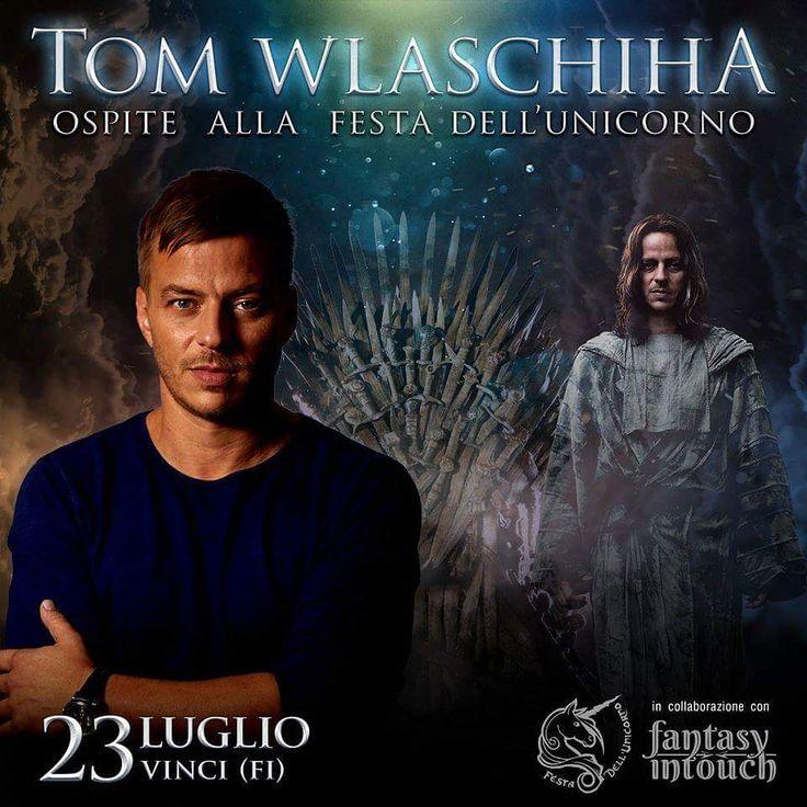 Tom Wlaschiha is scheduled to appear at Festa dell' Unicorno on Sunday 23rd July at Vinci in Italy ! TOM WLASCHIHA sarà l'ospite d'onore per il tributo a GAMES OF THRONES domenica 23 luglio! Preparatevi ad incontrare l'uomo da mille volti, JAQEN...