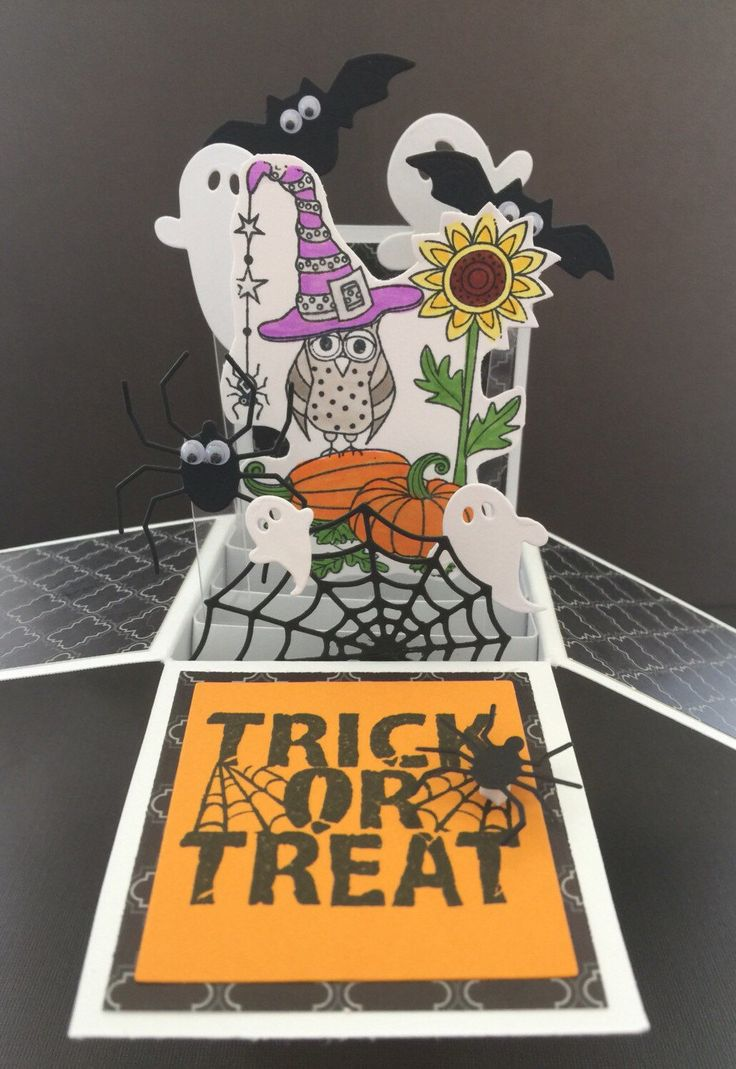 A personal favorite from my Etsy shop https://www.etsy.com/listing/480187101/halloween-pop-up-card-3d-halloween-card