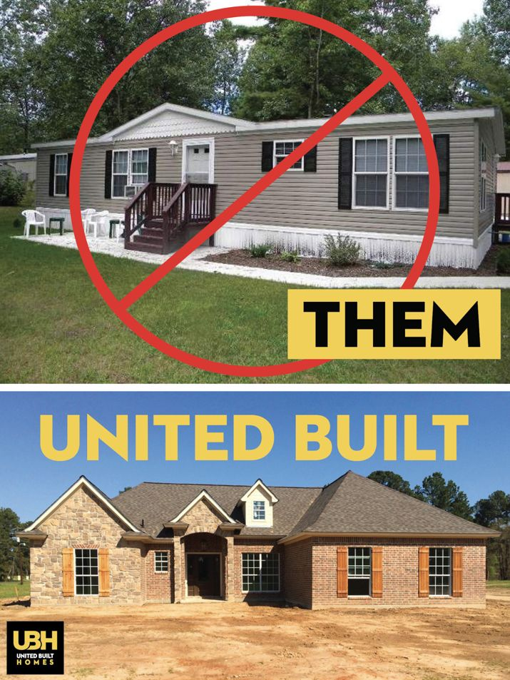 At United Built Homes We Only Build Stick Built Homes And Never Offer Modular Or Prefabricated Homes If Y Prefabricated Houses Modular Homes Metal Barn Homes