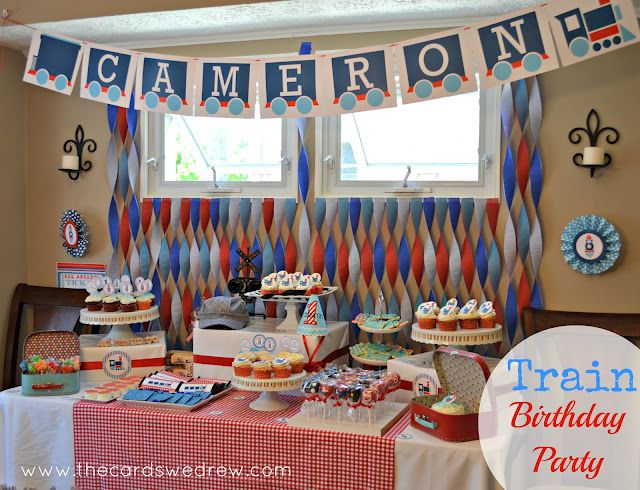 Train name banner: Crepes Paper, First Birthday Parties, Training Theme, Parties Ideas, Training Birthday, 2Nd Birthday, Parties Desserts, Training Parties, Birthday Ideas