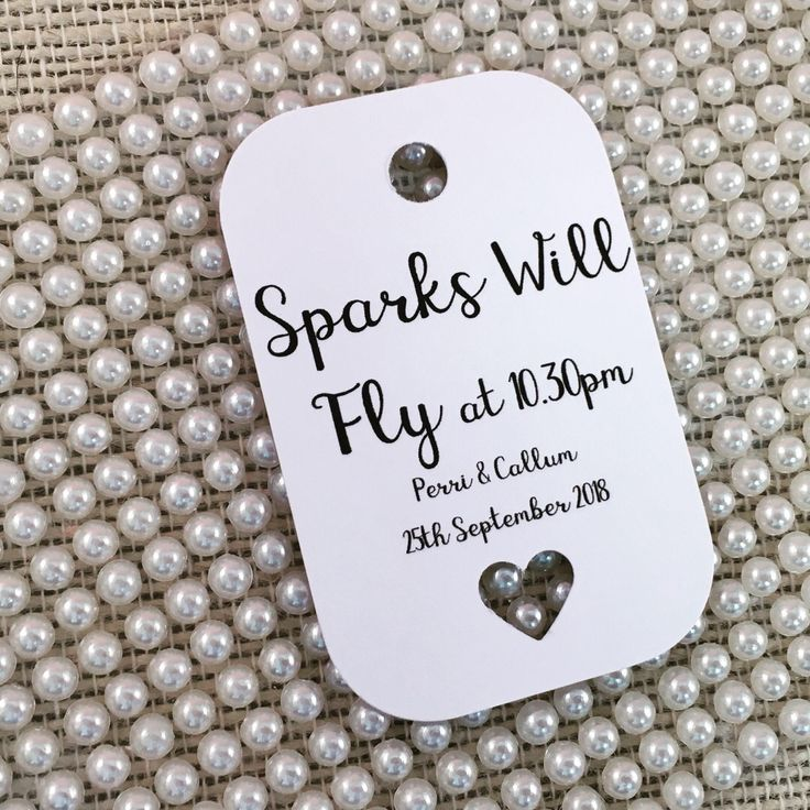 A personal favourite from my Etsy shop https://www.etsy.com/uk/listing/556315699/sparks-will-fly-sparkler-tags-wedding