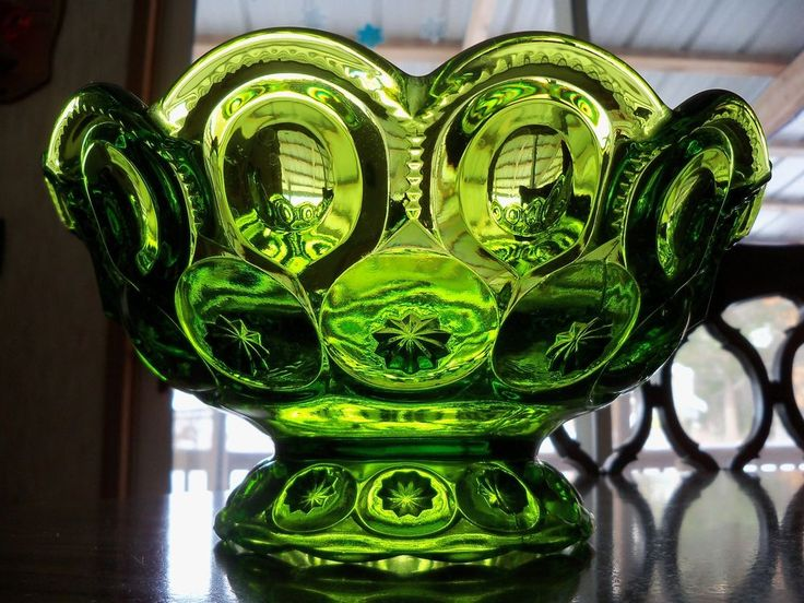 Large Green Moon and Star Serving Bowl *Heavy Duty*  | eBay