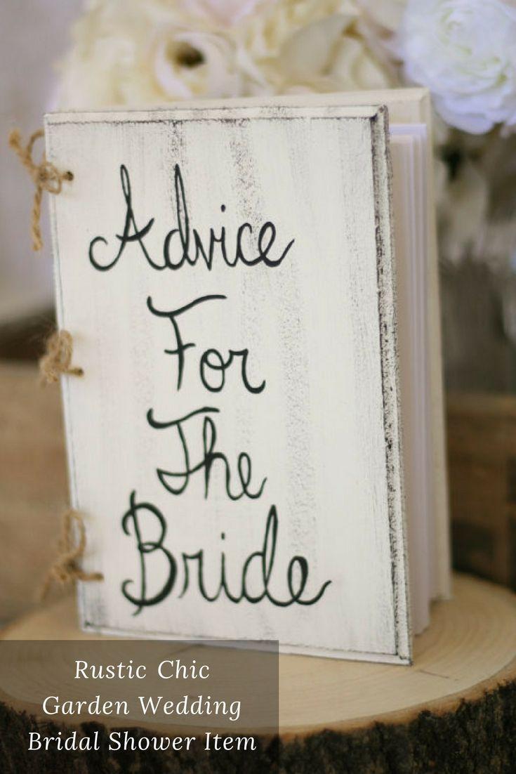 Bridal Shower Guest Book Advice For The Bride Book Rustic Chic Garden Wedding Bridal Shower Decor #affiliate #bridalshowerideas #weddings