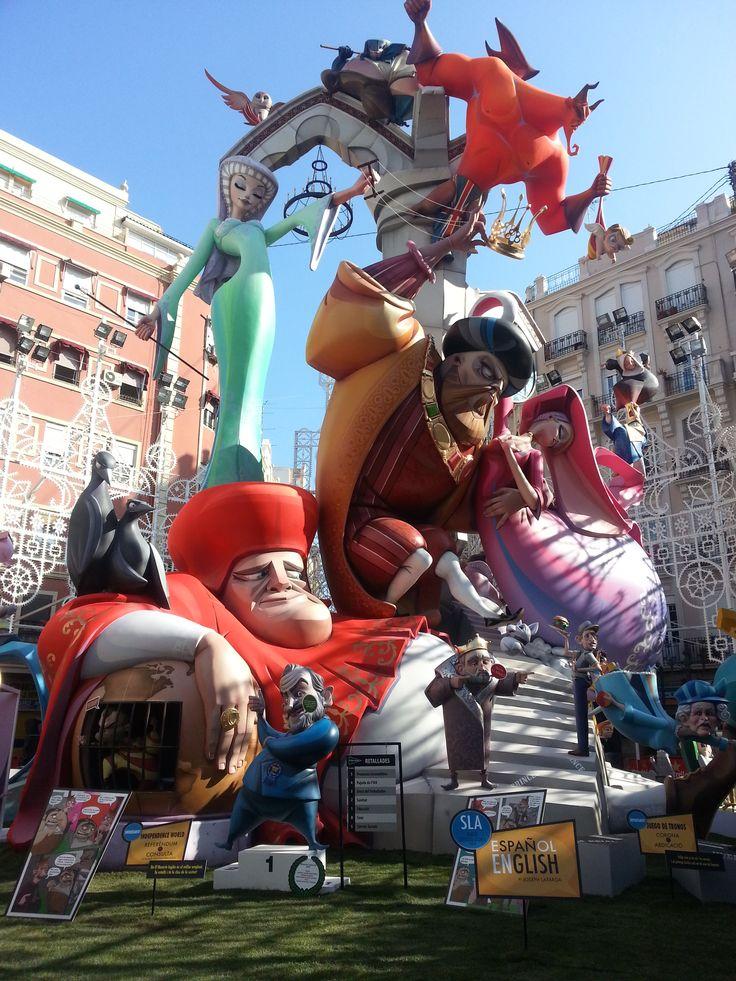 Falla Sueca Literato Azorin Sección Especial March 2015 Valencia - Spain