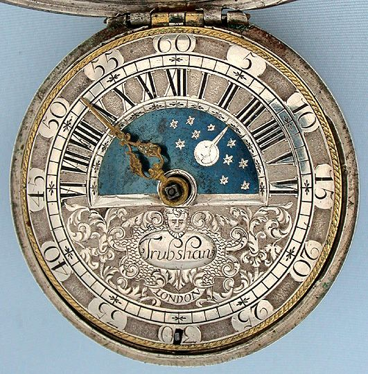 Sun & Moon Pocket Watch circa 1695. Excellent condition. $6750