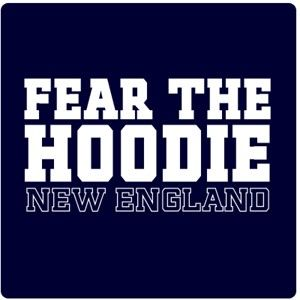 Fear the Hoodie New England t-shirt or sweatshirt available now...The Hoodie strikes fear into the hearts of his opponents. Get this t-shirt and show some respect for the greatest Football coach of all time.