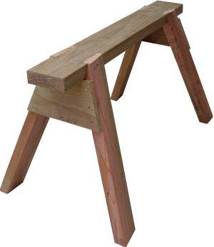 wooden sawhorse
