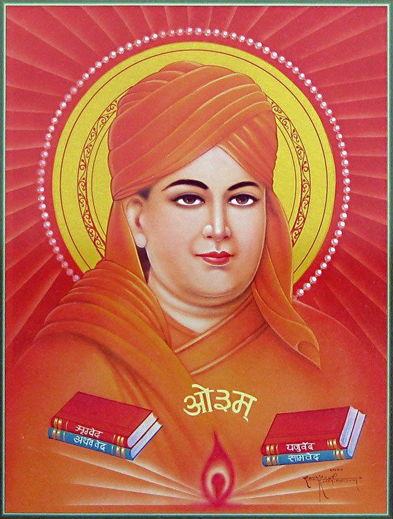 Swami Dayanand Saraswati - Hindu religious leader from Gujarat and founder of the Arya Samaj