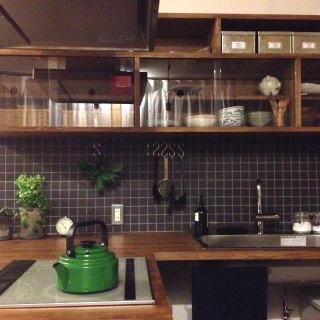 キッチンの収納/タイル…などのインテリア実例 - 2013-11-11 05:29:48 | RoomClip(ルームクリップ)