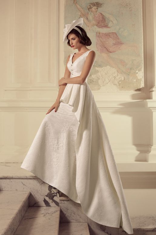 Tatiana bridal dress 66 -- like the lower half; the draping is both romantic and elegant.