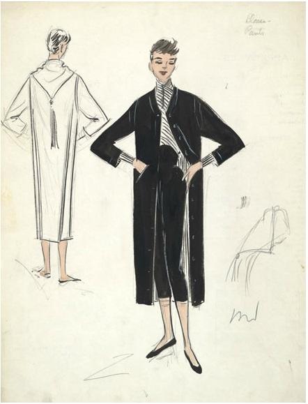 """Edith Head  for Audrey Hepburn in """"Sabrina."""""""