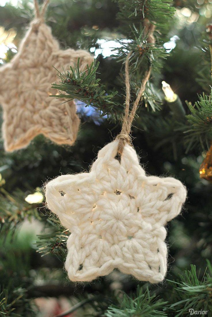 Hæklet julepynt med opskrift