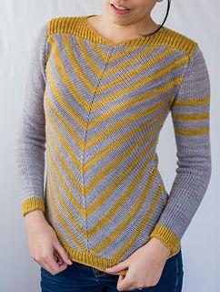 Striped sweater knitting pattern - $7