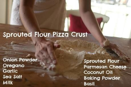 Make pizza that is healthy for your family with a sprouted flour crust!