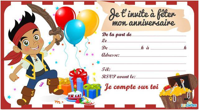 Carte D Invitation Anniversaire Gratuite A Imprimer Enfant Carte Invitation Anniversaire Invitation Anniversaire Garcon Carte Anniversaire