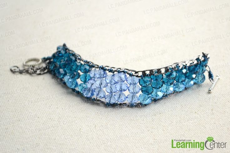 Beaded bracelet on a chain