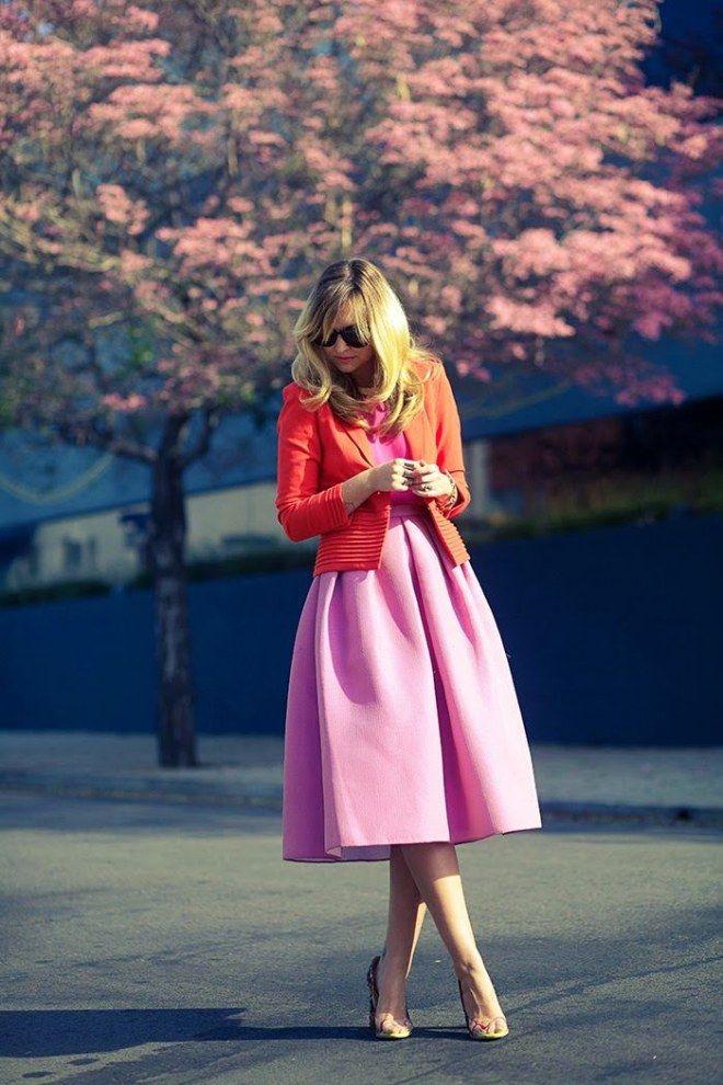 295fcefdb7902c Rot und Pink kombinieren: Streetstyle Röcke Kombinieren, Kleidung  Kombinieren, Business Kleidung Damen,
