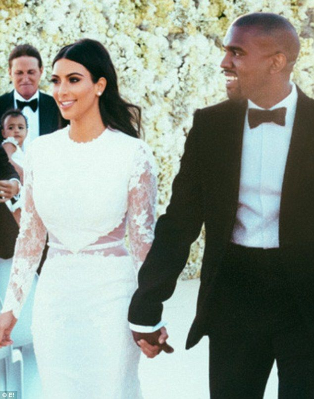 Perfect pout: For her wedding to Kanye West last Saturday in Forti di Belvedere in Florence, Kim Kardashian wore relatively inexpensive makeup that can all be bought for less than $200