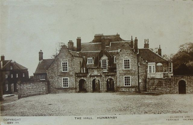 Hunmanby Hall, where I went to school