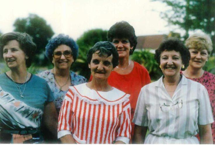 Non se 60e Verjaardag: Aa5 Polla van Wyk, Aa1 Marhina Jacoba Nel, Aa8 Julia Joubert, Aa9 Bets Prollius, Aa7 Mary Meiring, Aa10 Lenie Prollius