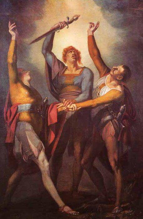 Heinrich Füssli, Giuramento dei tre confederati sul Rütli ...
