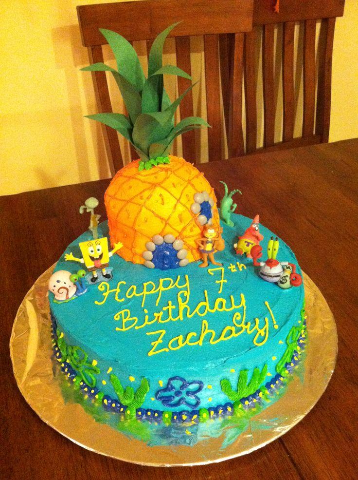 Making A Spongebob Birthday Cake