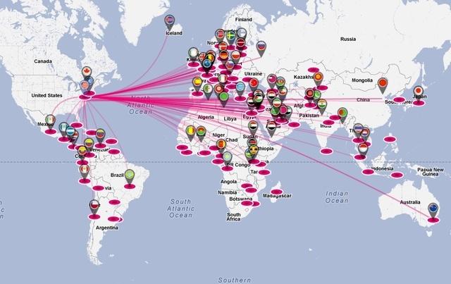 AFP's e-diplomacy tool maps tweets between worldleaders
