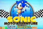 Sonic Moto Adventure: Juego de sonic, tiene una aventura mas pero ahora utilizara su Moto para recorrer el camino acumulando puntos y atravezando muchos obstaculos http://www.ispajuegos.com/jugar4517-Sonic-Moto-Adventure.html