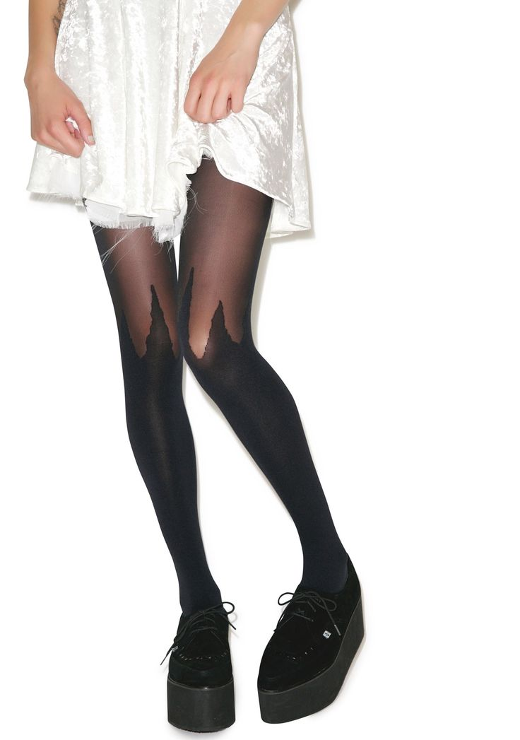 House of Holland x Pretty Polly Spike Mock Hold-Up Tights | Dolls Kill