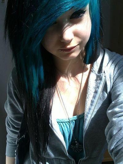 Tumblr Blue Black Hair