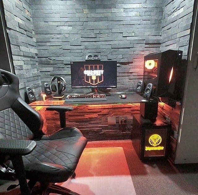Awe Inspiring Gothic Game Room With Stone Wall By Gamingpcrigs In 2019 Beatyapartments Chair Design Images Beatyapartmentscom