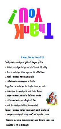 Primary Teacher Survival Kit