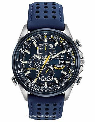Inspired by the precision and grace demonstrated by the Blue Angels on each of their flight maneuvers, this World Chrono AT is built to impress. It's high-quality atomic timekeeping keeps accurate tim